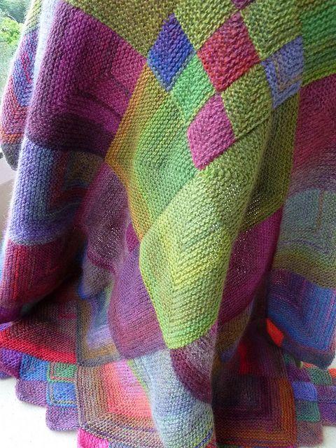 montricot: tempus fugit #knit #blanket                                                                                                                                                      Mais