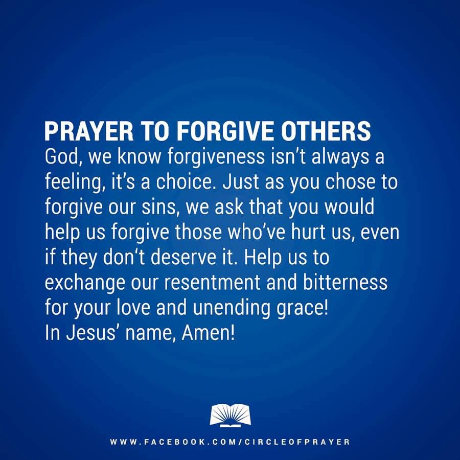 Forgiveness is actually for you      not the other person | Prayer