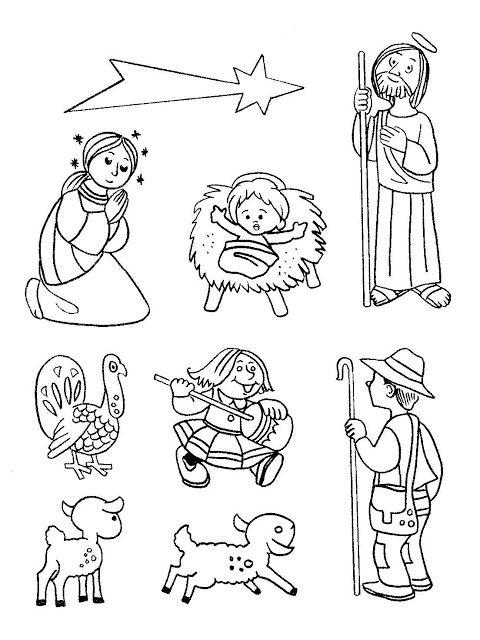 Material educativo para maestros nacimientos para - Dibujos de belenes ...
