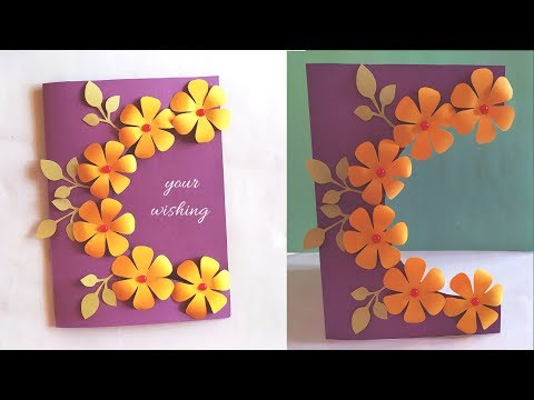 2 Handmade Card Idea For Birthday Teacher S Day Friendship Day Simple And Easy Youtube In 2020 Card Design Handmade Simple Cards Handmade Cards Handmade