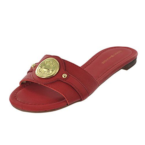10855fabf TOMMY HILFIGER ICELA RED MULTI WOMENS SLIDE Size 8M -- Click on the image  for