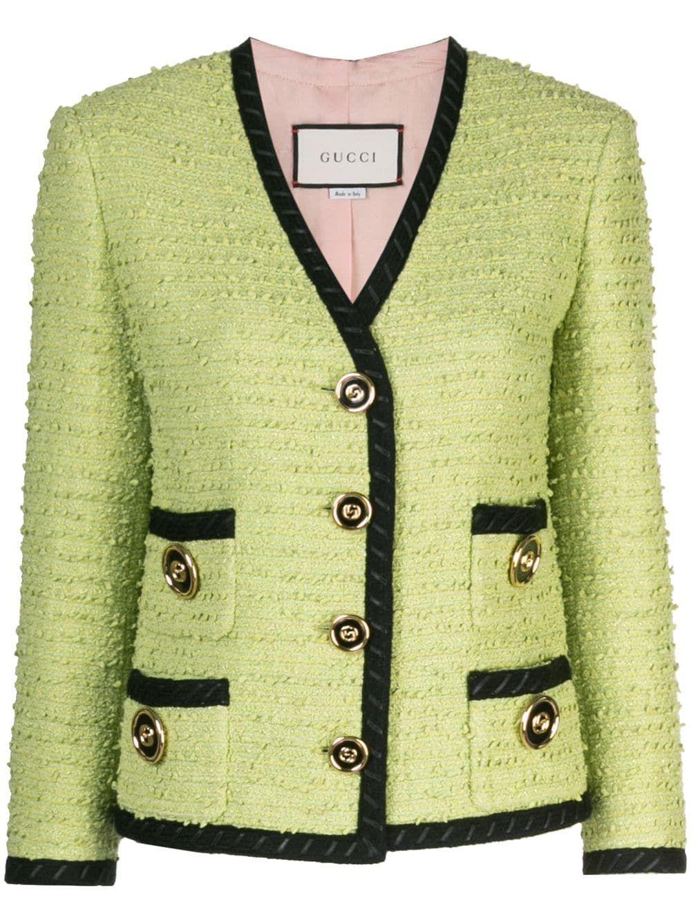 Gucci Tweed Jacket Farfetch Gucci Tweed Jacket Gucci Tweed Tweed Jacket [ 1334 x 1000 Pixel ]