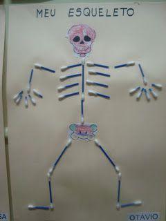 """Portal do Professor - """"Meu corpo e meu esqueleto"""" atividades para Educação infantil."""