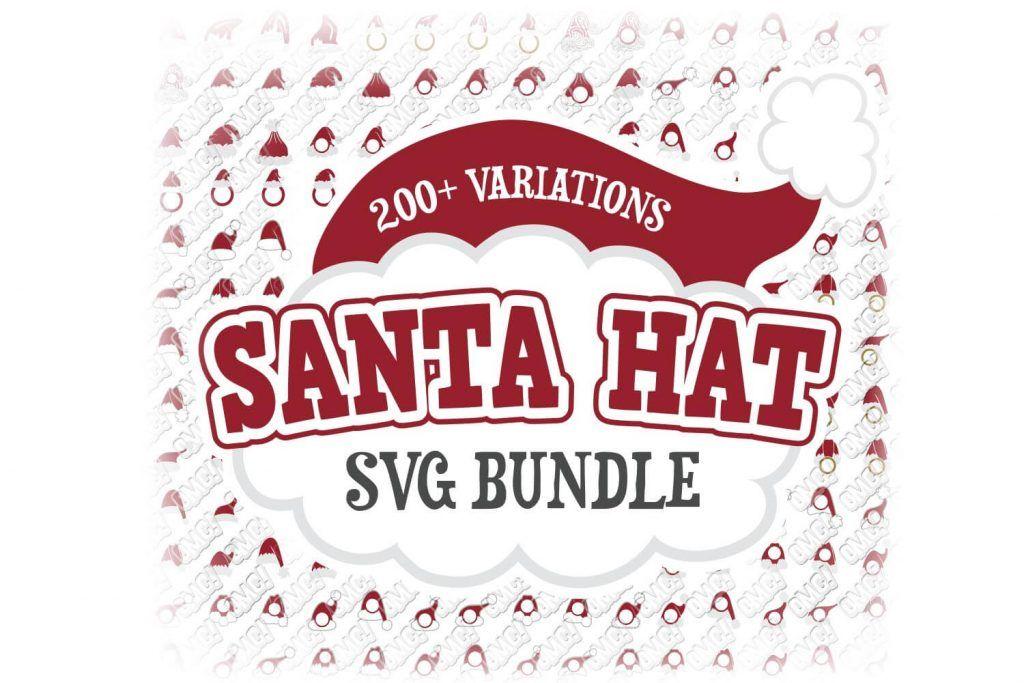 Santa Hat SVG Bundle in SVG/DXF/EPS/JPG/PNG Monogram svg