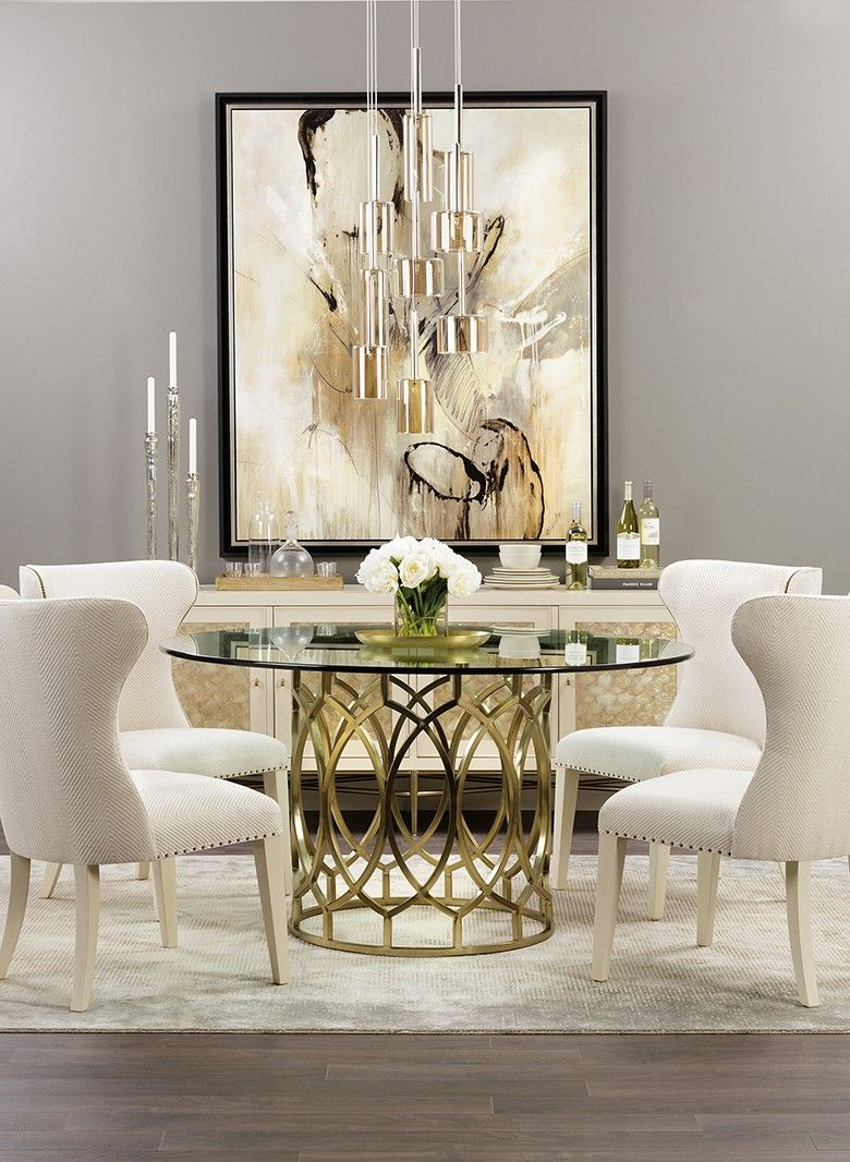Salon Round Table  Glamourous dining room, Dining room design