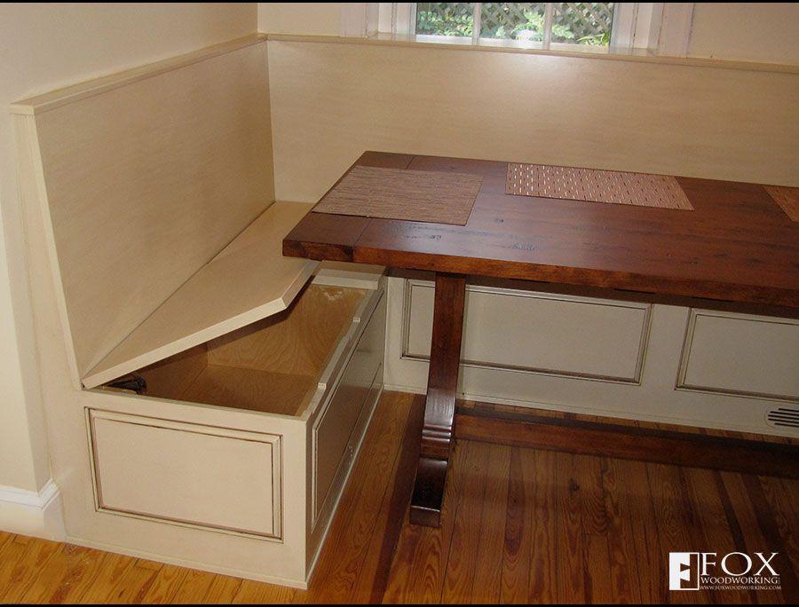 Bench Storage Under The Breakfast Nook Kitchen Furniture Storage