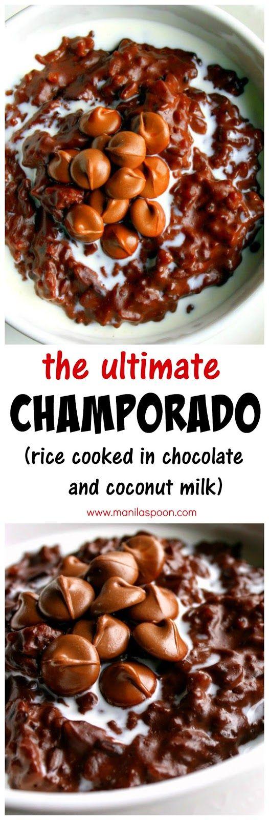 Photo of Champorado (Filipino Chocolate Rice Porridge/Pudding) – Manila Spoon