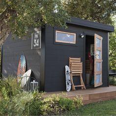 Abri de jardin bois, pvc, toit plat | Backyard buildings, Tiny ...