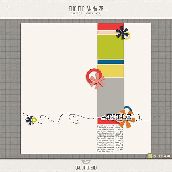 Flight Plan No 26 digital scrapping Pinterest - flight plan template