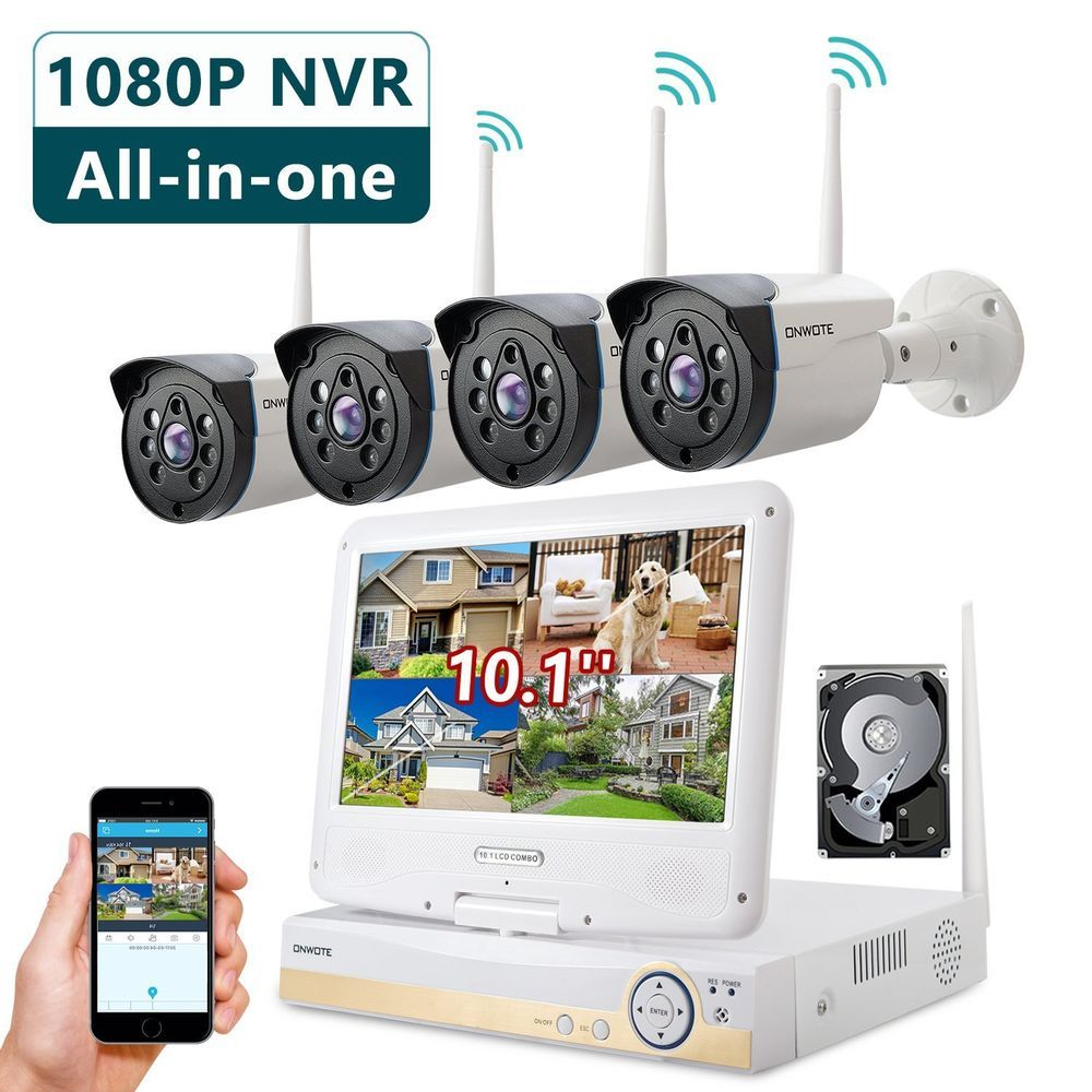 0bedee66f13 ONWOTE All-in-one 1080P HD NVR Wireless Home Security Camera System Outdoor  w... (eBay Link)