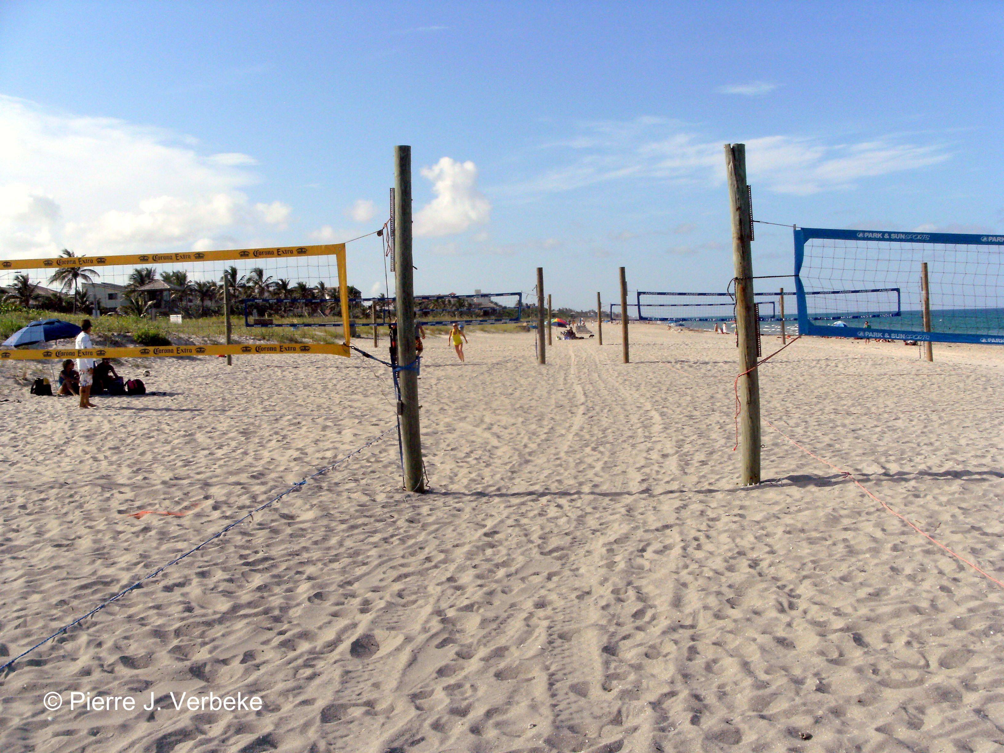 Delray Beach From Amateurs To Volleyball Professionals The Beach Volleyball Courts At Delray Beach Are R Beach Volleyball Court Delray Beach Downtown Delray