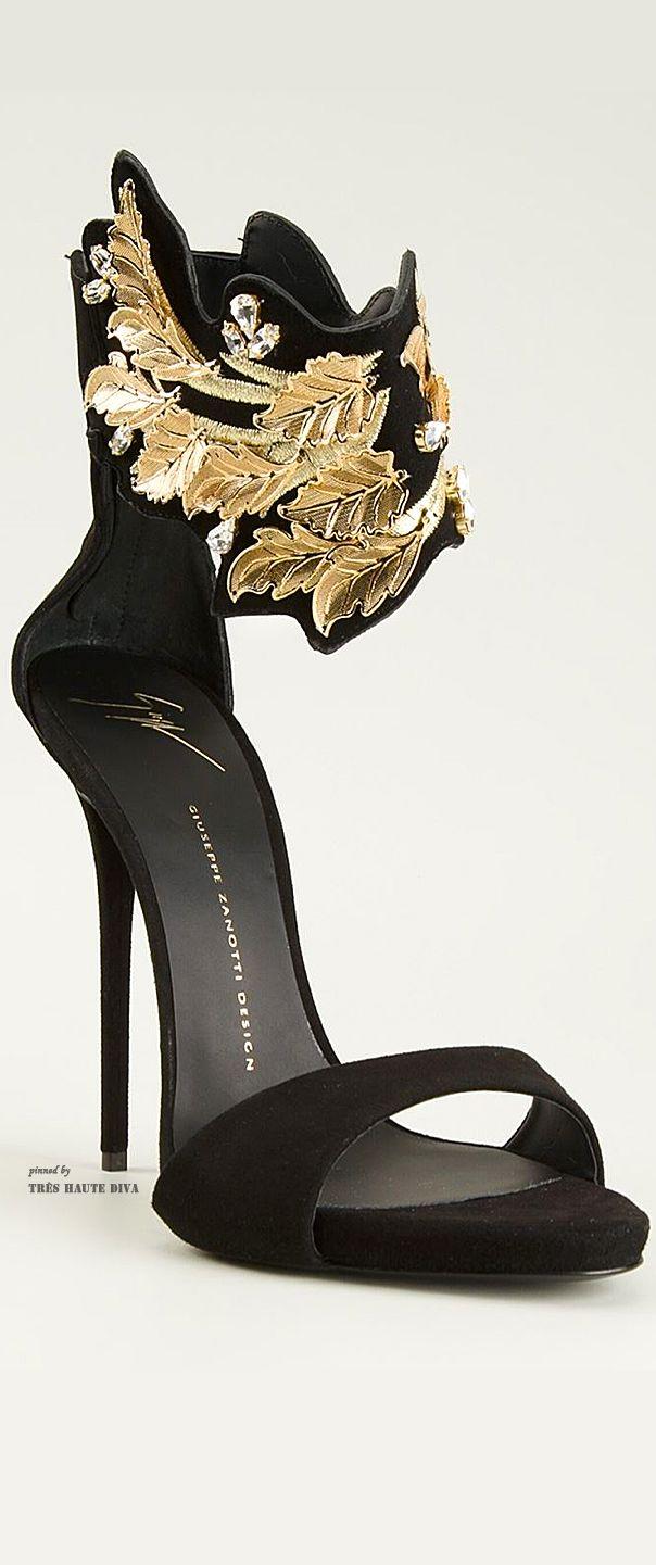 a0a9e2717f5e8 Giuseppe Zanotti Leaf Detail Sandals ♔THD♔ | shoes | Shoes, Shoe ...