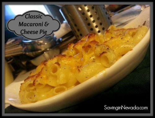 Macaroni and Cheese Pie Recipe