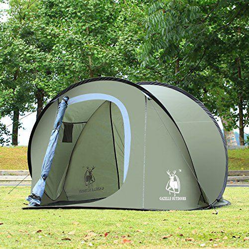 Large Pop Up Backpacking C&ing Hiking Tent Automatic Instant Setup Easy Fold back Olive u003eu003e & Large Pop Up Backpacking Camping Hiking Tent Automatic Instant ...