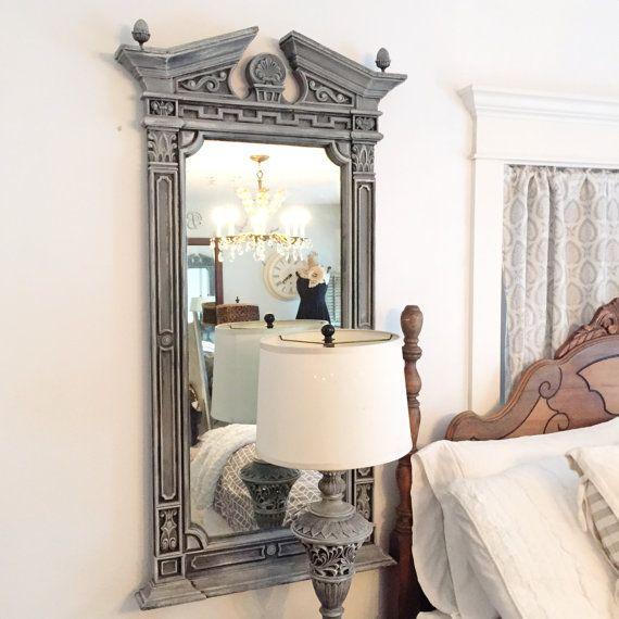 Large Ornate Mirrorrestoration Hardware Style Mirrorhand Etsy Restoration Hardware Style Mirror Restoration Dressing Room Design