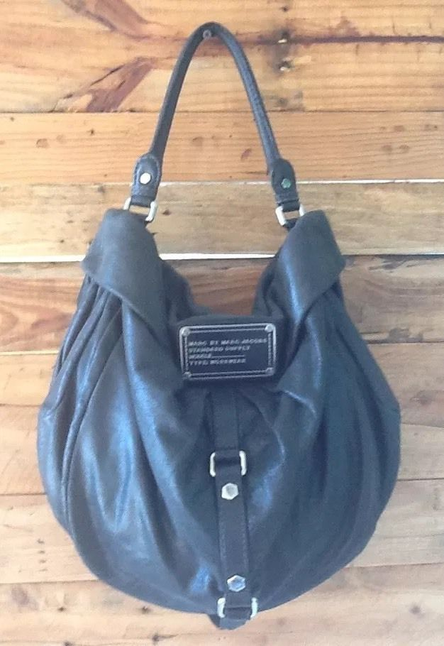 4385758edf122 ... Marc Jacobs Standard Supply Workwear Black Leather Hobo Shoulder Bag in  Clothing