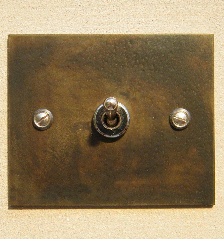 1a2 interrupteur acier rectangle1 2 salles manger. Black Bedroom Furniture Sets. Home Design Ideas