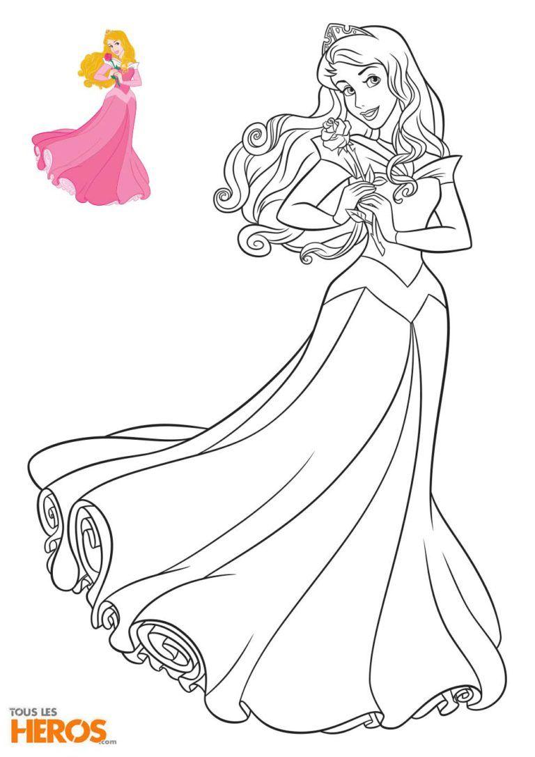 Coloriage A4 Cendrillon.Coloriage Aurore De La Belle Au Bois Dormant Disney Princesses