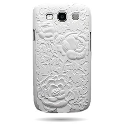 WHITE ROSE TEXTURE PHONE COVER CASE FOR Samsung GALAXY S III 3 I9300 AT on eBay!