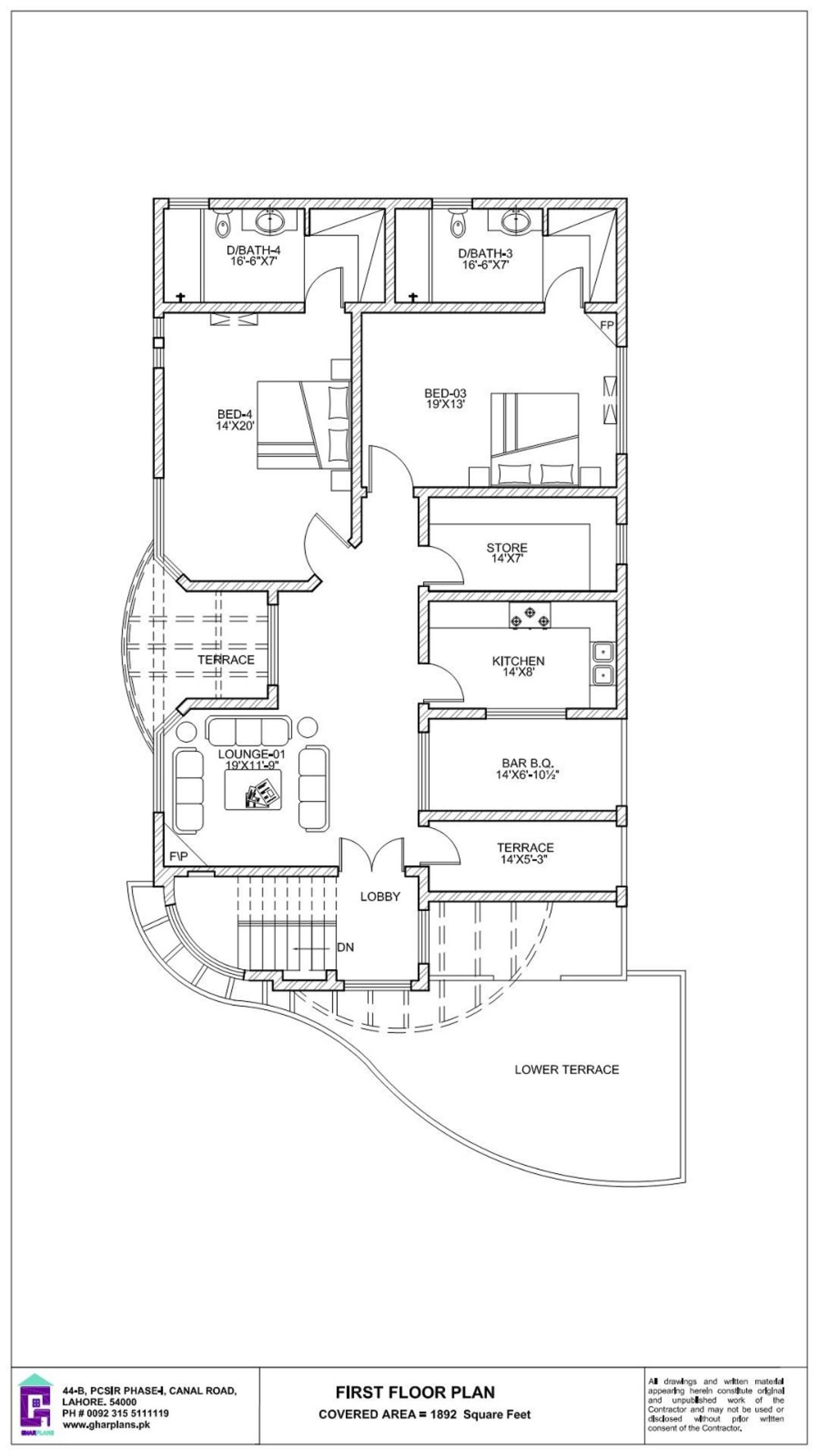 50 X 90 House First Floor Plan 500 Sq Yard House Plans