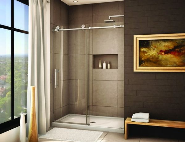 Sliding Door Shower Enclosures For The Contemporary Bathroom Frameless Sliding Shower Doors Sliding Shower Door Shower Door Hardware