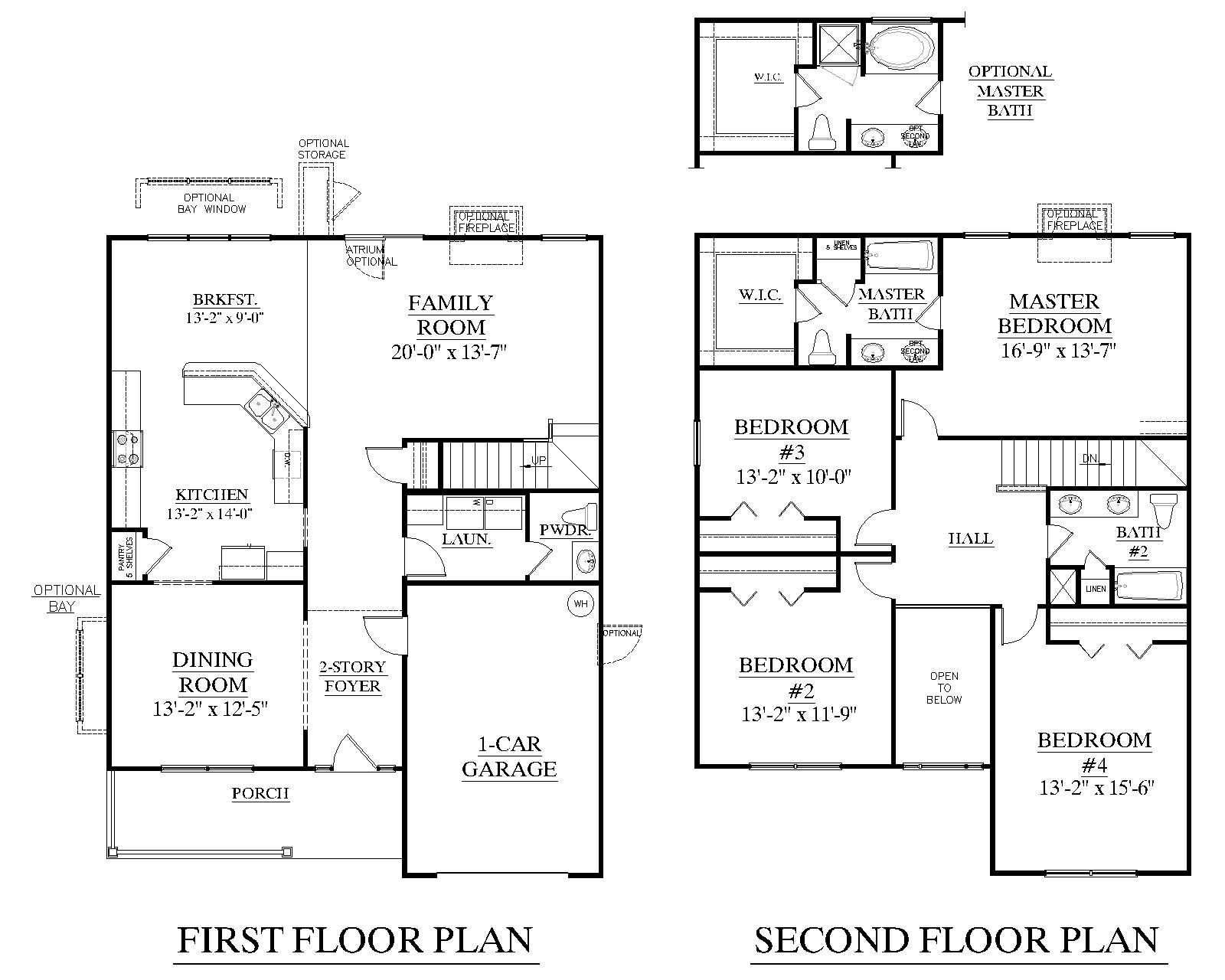 House plan 2310 kennsington floor plan 2310 square feet for 2 story great room house plans