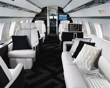 Jet Versace Design Private Jet Interior Luxury Private Jets Aircraft Interiors