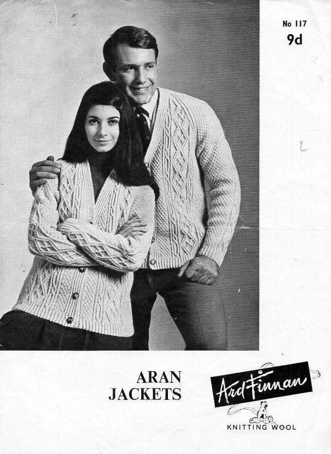 Womens Mens Aran Cardigan Knitting Pattern PDF Download Aran Jacket ...