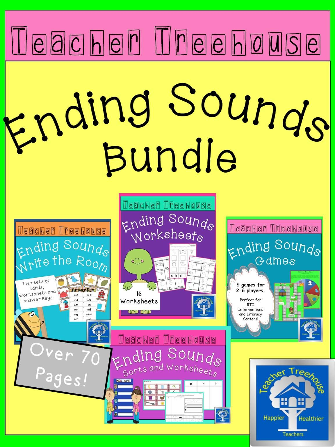 This Is A Bundle Of All My Ending Sounds Products Every