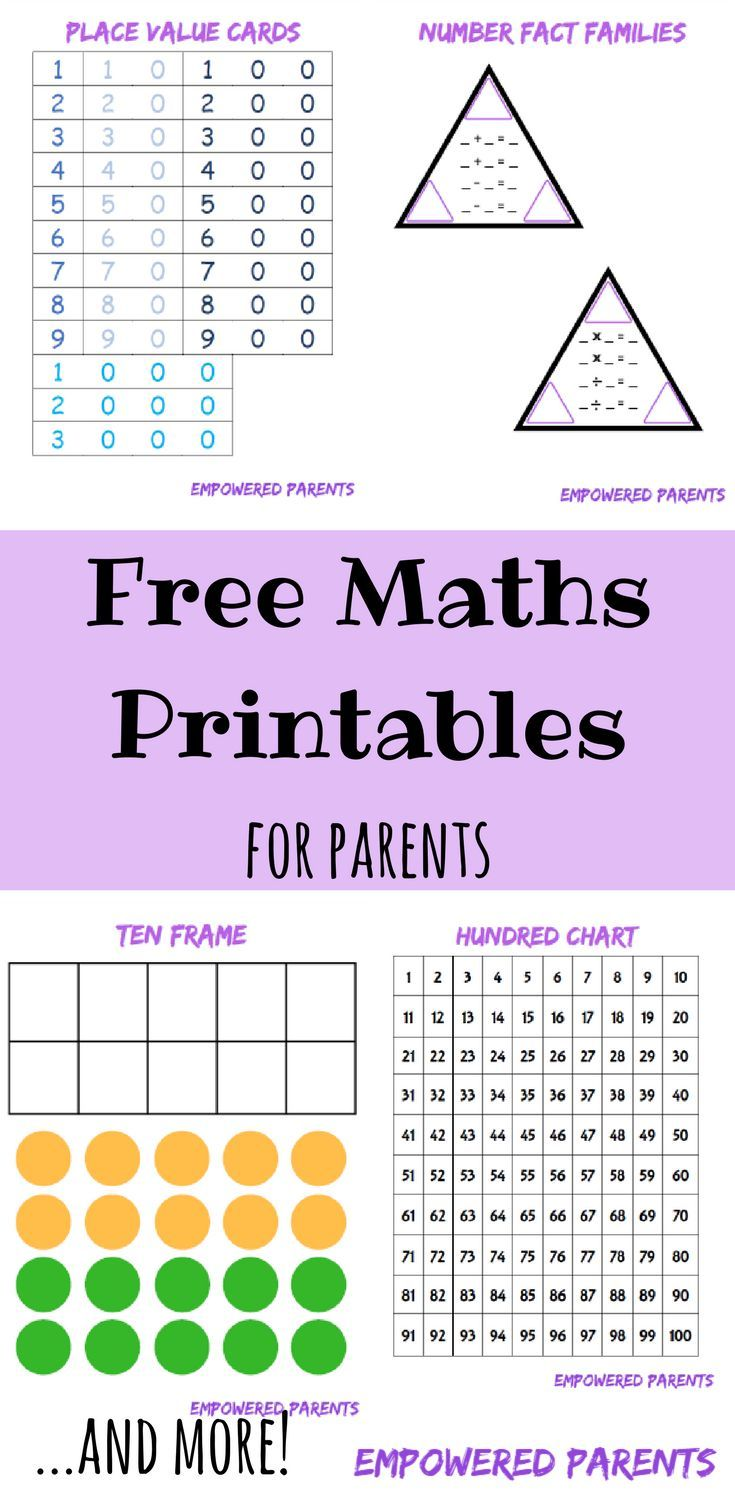 Improve your childs number concept by using these printables the the free set contains a number chart number fact family cut ous place value cards ten frame and counters place value chart and base 10 blocks geenschuldenfo Image collections