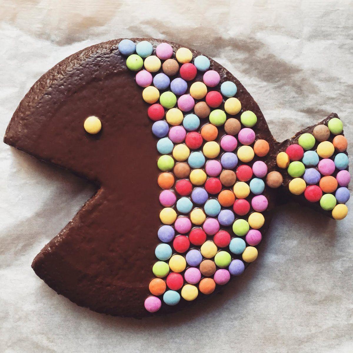 G teau chocolat poisson avril smarties le bonbon for Decoration pour poisson