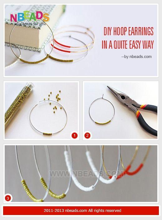 DIY Hoop Earrings in A Quite Easy Way – Nbeads