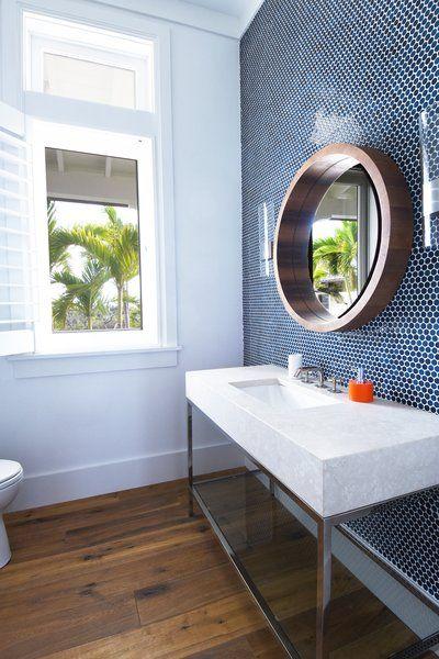 Bahamas Style By Denton House Design Studio In 2019 Tile Accent Wall Modern Bathroom Design Blue Penny Tile,Digital Art Character Design Tutorial