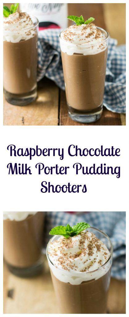Raspberry Chocolate Milk Porter Pudding Shooters | Beer Girl Cooks: