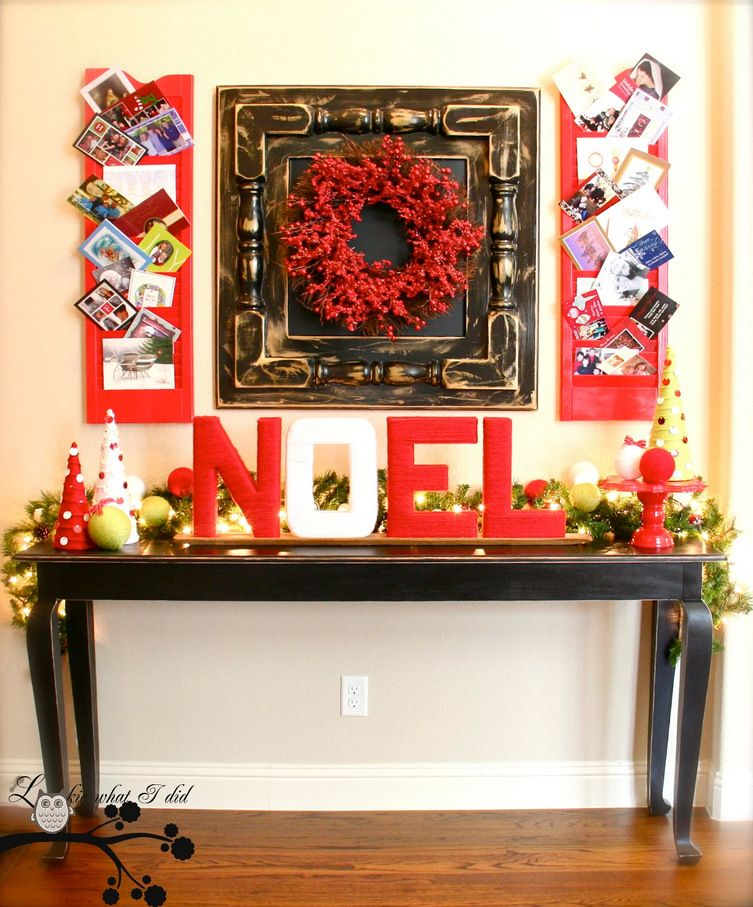 Christmas Foyer Decorating Ideas Part - 19: Christmas Entryway Decorating Ideas