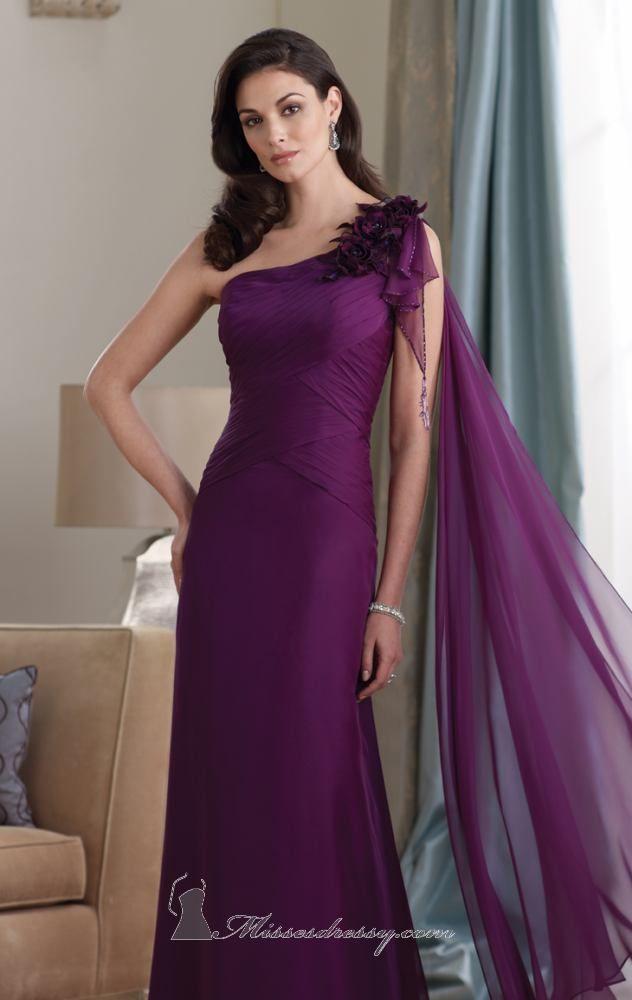 One Shoulder Gown by Mon Cheri Montage | Ideas de fiesta, Vestidos ...