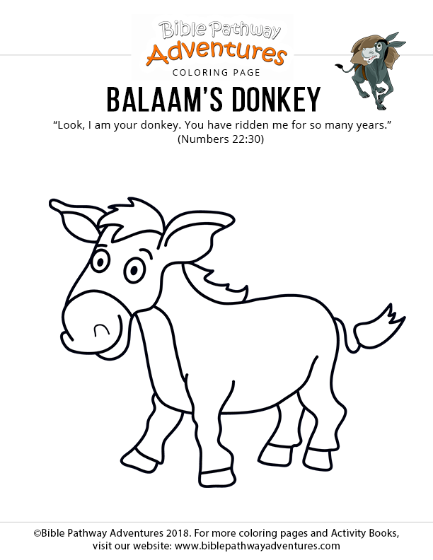 thesebemypics: Balaam And His Donkey Coloring Page
