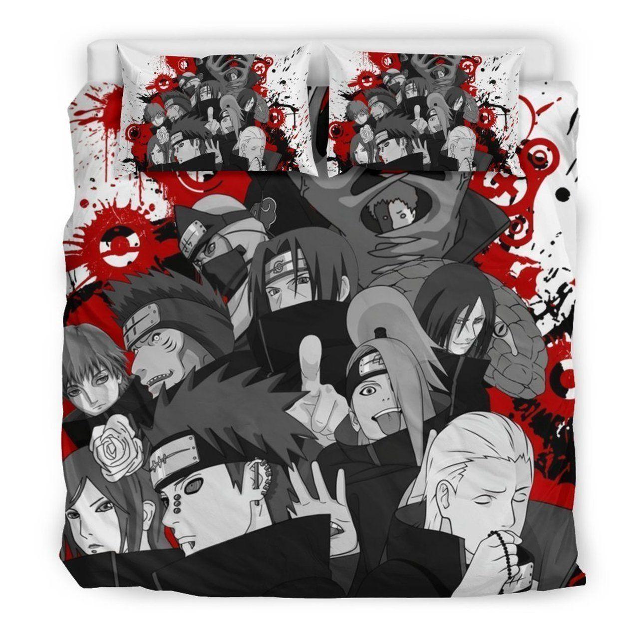Naruto Shippuden Akatsuki Custom Bedding Set (Duvet Cover & Pillowcases)
