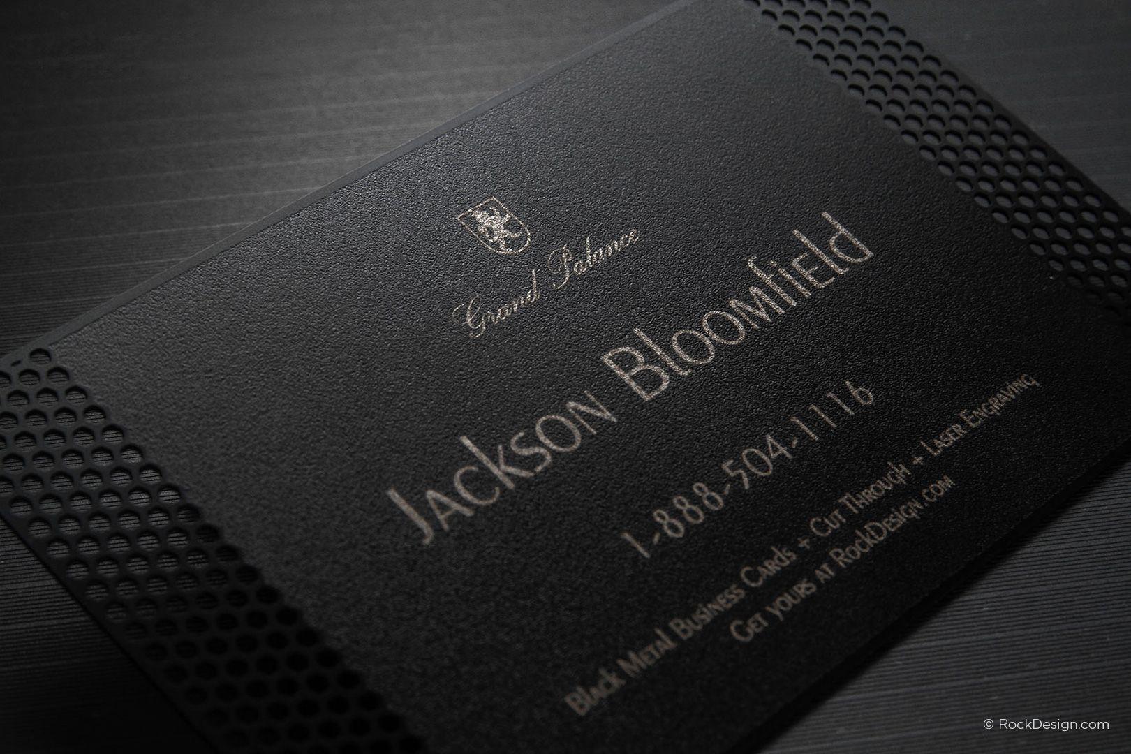 Elegant professional laser engraved metal business card - Grand ...