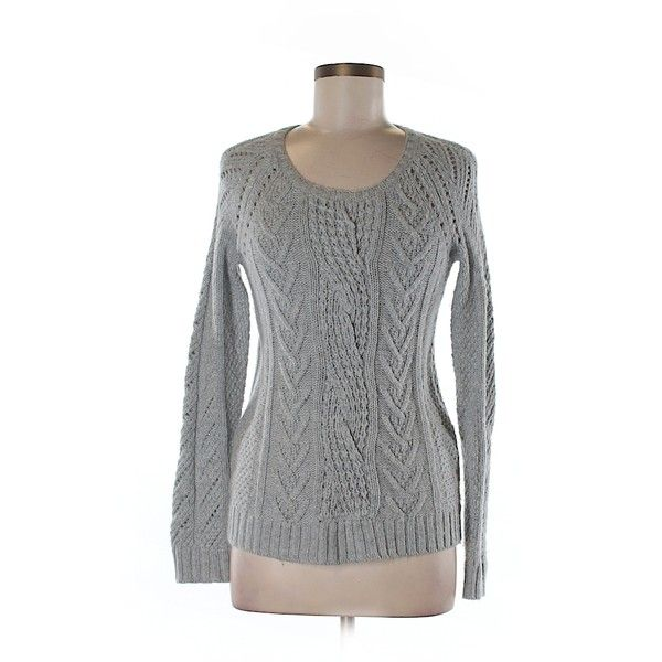 Pre-owned Gap Pullover Sweater Size 4: Gray Women's Tops ($17) ❤ liked on Polyvore featuring tops, sweaters, grey, gray sweater, gray top, gap tops, grey top and pullover tops