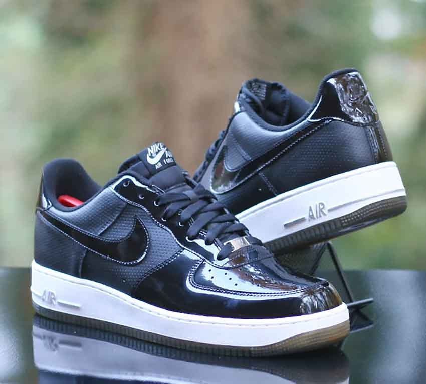 huge selection of 6be2e a9688 Nike Air Force 1  07 Low Black Patent Leather White 315122-010 Men s Size  13  Nike  BasketballShoes