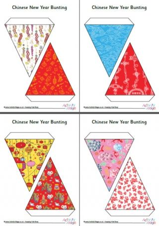 Chinese New Year Bunting | Tema: Oriental | Chinese new ...