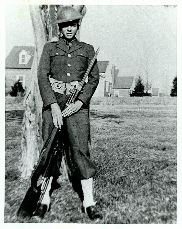 Audie Murphy during basic training, 1942 in 2020