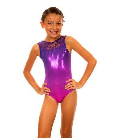 76fbbda45a84 Loving this Pink   Purple Ombre Christina Leotard - Girls on  zulily ...