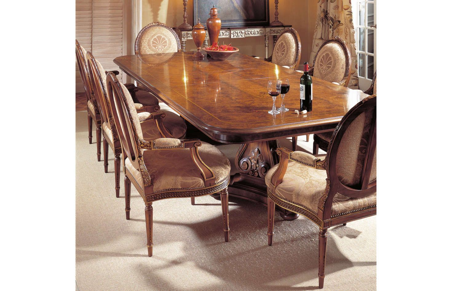 Regency Dining Table French Regence One Of The Most Elaborate And Detailed Tables Made By Karges It Combines Olive As Dining Table Regency Dining Table Dining