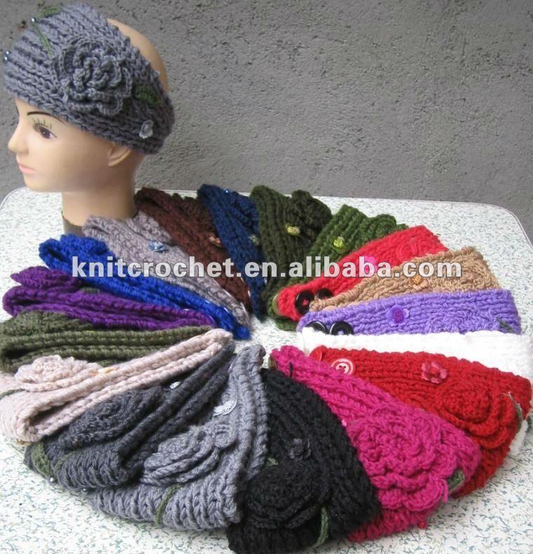Handmade Knit Crochet Headband Head Wrap Ear Warmer Neck Embroidered With Flowers Buy Craft Fair Displays Booth Display
