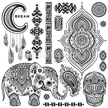 Image Result For Bohemian Tattoo Designs