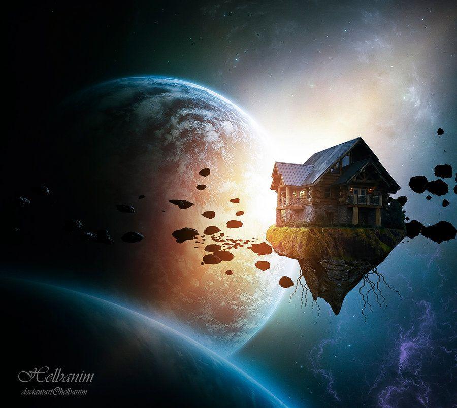 Space Island House By Helbanim On Deviantart Island Art Beauty In Art Art