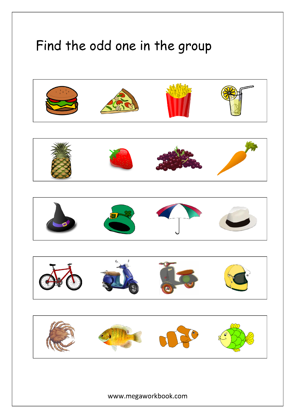 Odd One Out Worksheet 4 Deepu Pinterest Worksheets Math And
