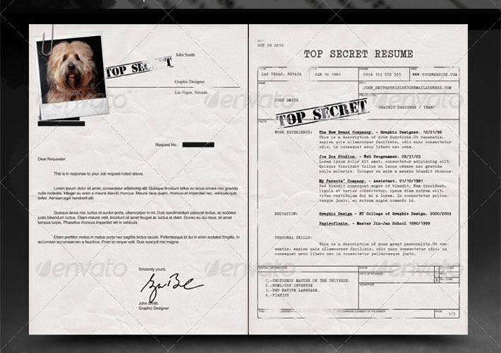 cv con formato de top secret